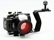 Meikon 40m/130ft Underwater Camera Housing for DSC RX100 IV, Diving Handle
