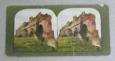 #822 Ingersoll Stereoview of Ruins of Ancient Aquaduct, Appian Way, Rome, Italy