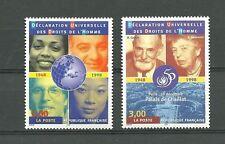 FRANCE 1998 - N° 3208 + 3209 - Déclaration Universelle des Droits de l'Homme