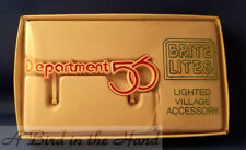 Dept 56 BRITE LITES DEPARTMENT 56 SIGN, New in Box, NEVER USED! #98469