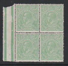 AUSTRALIA 1918-20 ½d WITH 'THIN ½d IN FRACTION AT RIGHT' SG 48a MNH.