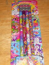 Pack of LISA FRANK # 2 Wood Pencils w/Mix Graphics, Tiger, Kitty, Unicorn, Peace
