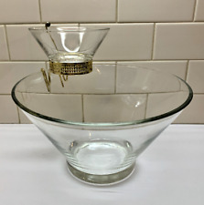 Vintage Anchor Hocking Glass Chip and Dip Set Clear Glass