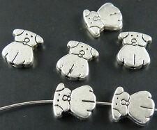 80pcs Tibetan Silver Cute Bear Spacer Beads 10.5x9x2.5mm zn3607