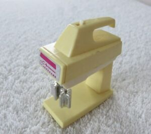 Vtg 80s Barbie Wind Up Hand Mixer with Stand Dollhouse Accessory Works Sometimes