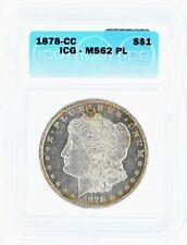 1878-CC Morgan Silver Dollar ICG MS62 PL Proof-like Carson City Key Date