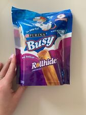 Purina Busy Real Beefhide Rollhide Long Lasting Dog Chews 9 Pouch