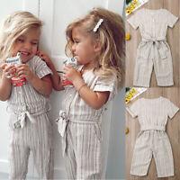 Toddler  Baby Girl COTTON&LINEN Romper Jumpsuit Bodysuit Outfits Sunsuit Clothes