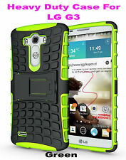 Green Strong Handyman TPU Hard Case Cover Stand for LG G3, Heavy Duty & Tough
