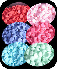 Cabochon Resin Flower 6 Pairs 6 Colours Retro Style Flatback Betsy Dahlias 12pc