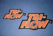 2 Authentic Tri Flow Stickers/Décalques/Triflow/Autocollant ***