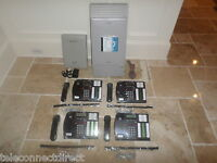Nortel Norstar MICS Office Phone System (4) T7316 phones Caller ID + Voicemail
