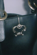 Ornate Silver KEY FINDER RING Hangs on Purse Ladies Stocking Stuffer
