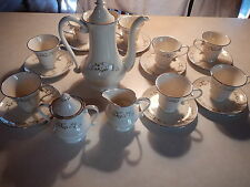 Edgerton Spring Rhapsody tea set - tea pot, cups, saucers, creamer and sugar