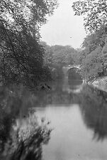 1910s DURHAM #4 Prebends Bridge Antique Photographic Glass Negative (River Wear)