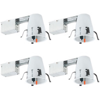 4 PACK 4-INCH REMODEL CAN AIR TIGHT IC + UL HOUSING RECESSED LED LIGHTING
