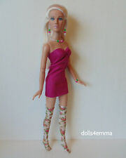 """TYLER DOLL CLOTHES Sexy DRESS + THIGH-HIGHS + JEWELRY 16"""" HM Fashion NO DOLL d4e"""