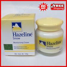 1 Pc - 100G HAZELINE Snow Moisturizing Cream Whitening Natural Protect Skin Care
