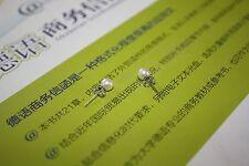 5-5,5 mm rund Natürliche Süßwasser Perle Schmuck Ohrringe Ohrstecker 925 Silber