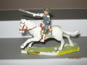Cherilea toy soldiers original mounted confederate rare G/C paint loss no 2