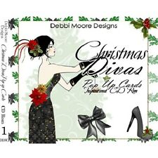 Debbi Moore Designs Christmas Divas Pop Up Cards Inspirational CD Rom 297631