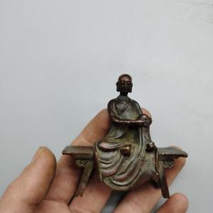 Oriental Antique bronze collection, bench Buddha,exquisite craftsmanship