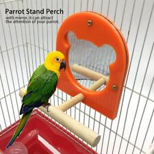 Parrot Perch Bird Play Stand Rack Play Center Perch with Mirror Playstand Toy Sp