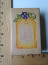 Image Tree Rubber Stamp  - Gift Tag - IT01