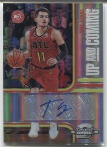 2018-19 Trae Young Panini Contenders Optic AUTO UP AND COMING Rc 3/99 Hawks NRMT