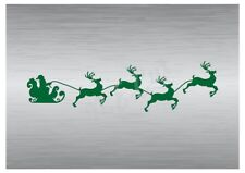Christmas Santa's Sled stencil 4 A5 to A0 14cm to 1.2 meters or bigger CMAS094