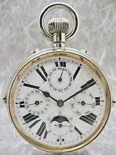 SWISS GOLIATH MOONPHASE TRAVEL WATCH - RUNNING - 7.5 cm