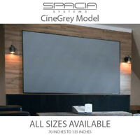 Spacia Systems Slim Frame Fixed Projector Screen - CineGrey - ALL LARGE SIZES