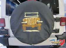 2007-2018 Jeep Wrangler Spare Tire Cover P255 LT255/75R17  P255/70R18 Mopar OEM