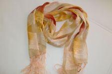 Langer Schal aus 100 % Seide edles Design mit langen Fransen