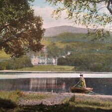Antique Loch Achray Scotland Postcard Trossachs Hotel Stirling Council Unposted