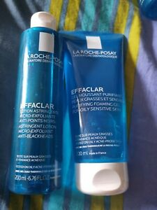 La Roche-Posay Purifying Foaming Gel and Anti Blackhead Lotion🖤