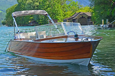 Klassisches Sportboot 1962 Mahagoni, Runabout, 4-Takt Motor, Trailer