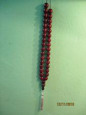 S 117g Vtg Dark Brown Cherry Ottoman Button Musbaha Old Original Catalin