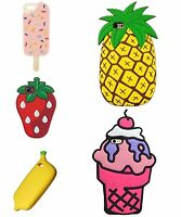 For iPhone Models 3D FUNNY FOOD Phone Case Cute Cartoon Gel Tpu Cover for Girls