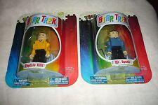 "Art Asylum Mini Mates Star Trek 3"" Mr.Spock & Captain Kirk Action Figure MISP"
