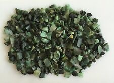 400 CTS SCOOP NATURAL EMERALD GREEN SAWED CHIPS ROUGH GEMSTONES LOOSE LOT RAW
