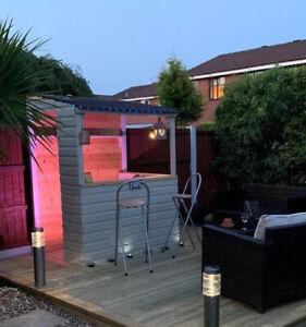 Garden Bar Light Wood  Shiplap