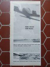 11/1960 PUB AVION CESSNA U-3B UTILITY TRANSPORT US AIR FORCE USAF ORIGINAL AD