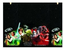 STAR WARS HEROES AND VILLIANS PLASTIC PARTY TABLE COVER 120CM BY 180CM NEW