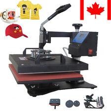 "5 In1 15"" X11.4"" Heat Press Transfer Digital T-Shirt Sublimation Machine Canada"