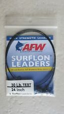"""( LOT OF 2 ) AFW High Strength Leaders fishing wire ( 3 Surflon ) 30 lb. x 24 """""""