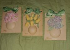 1999 Handcrafted Lot Mud Pie Ceramic Plaque Decorative Hanging Wall Art