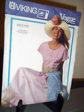Viking Vogue #8027/1100 Sewing Pattern Misses Top Skirt Uncut FF