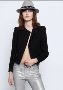 Zadig & Voltaire Vola Deluxe Jacket Cropped Blazer Size 36