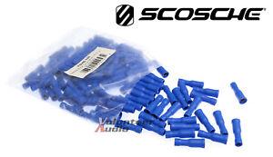 Scosche Vinyl Female Bullet Connector Blue 16-14 Gauge 100 Pieces/bag